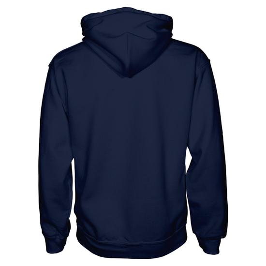 American apparel pullover hoodie   navy   back view   hoodbeast