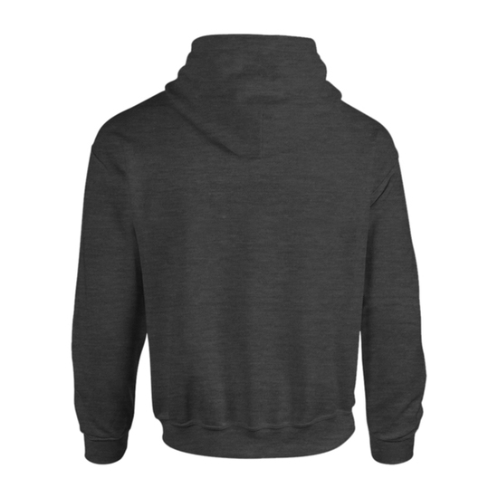 Two tone zip up hoodie   charcoal black   back view   hoodbeast