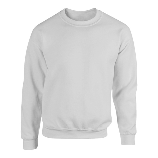 Crew neck sweatshirt   white   front view   hoodbeast